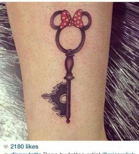 Key lovely disney tattoo