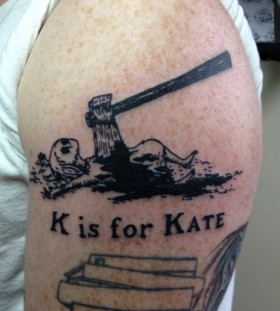 Kis for Kate quote tattoo by Edward Gorey