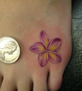 Little like money Plumeria tattoo