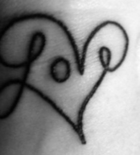 Love quote heart tattoo