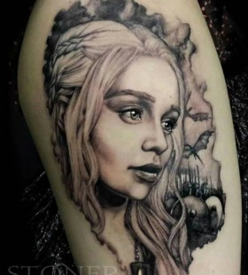Lovely Targaryen girl's game of thrones tattoo