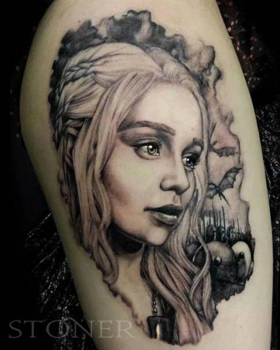 Lovely Targaryen girl's game of thrones tattoo