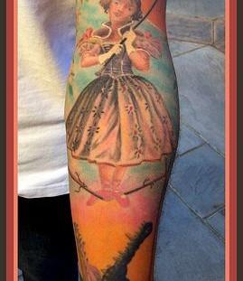 Lovely girl's magic tattoo