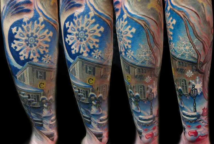 Lovely home of winter tattoo