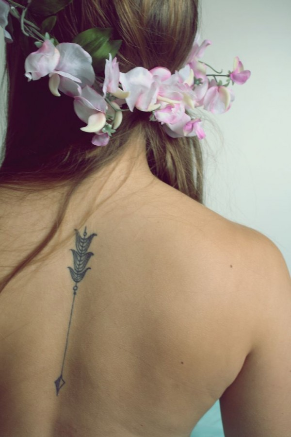 Lovely nature flower inspiring tattoo