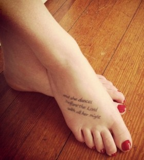 Lovely quote and dancer tattoo