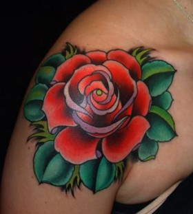 Lovely rose American Traditional Tattoo