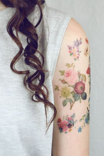 Lovely roses picture tattoo