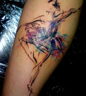 Lovely simple dancer tattoo