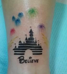 Lovely women's castle tattoo