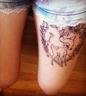 Magical style disney tattoo