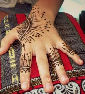 Mandala style lines tattoo