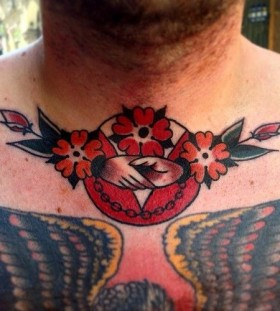 Men's neck tattoo by Austin Maples