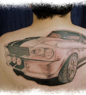 Mustang simple car tattoo