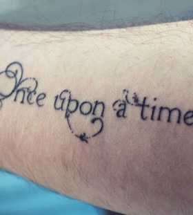 Once upon a time magic tattoo