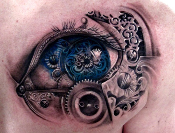 Ornamentally awesome eye tattoo
