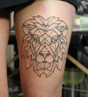 Ornamentally style lion tattoo