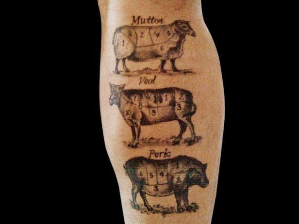 Pork and black pig tattoo