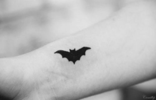 Pretty black batman tattoo