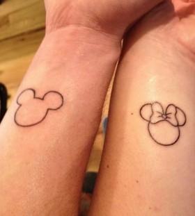 Pretty couple disney tattoo