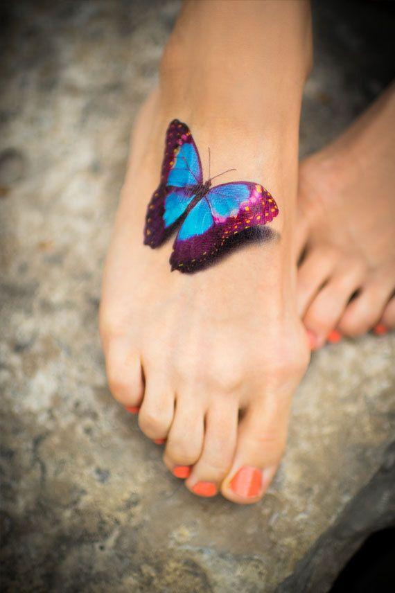 ce183459b Realistic 3D foot tattoo - | TattooMagz › Tattoo Designs / Ink Works ...