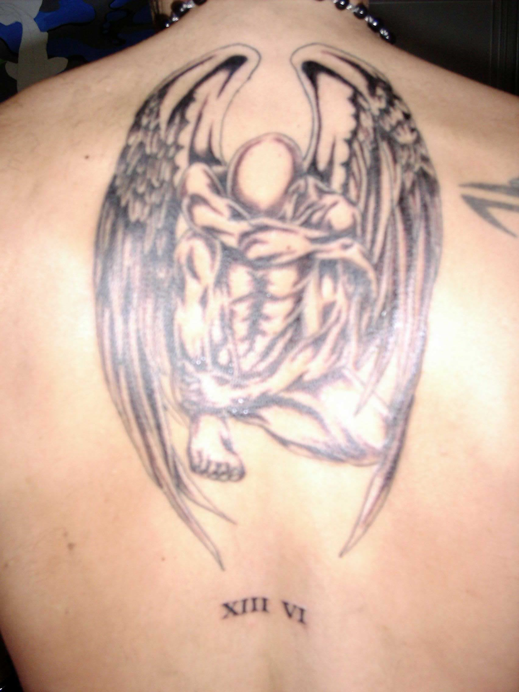 Angels Tattoo Images Numbers And Angel Tattoo