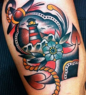 Ship style American Traditional Tattoo