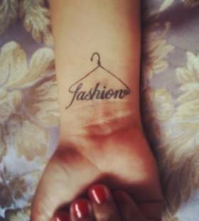 Simple black fashion style tattoo