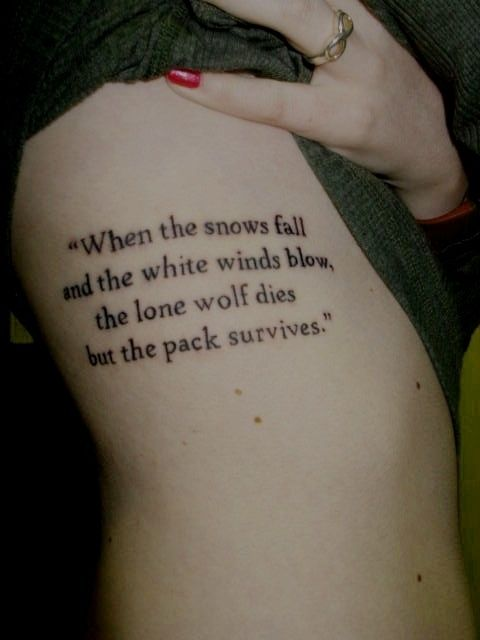 Simple looking quote tattoo