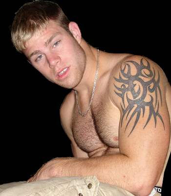 Simple men's men's shoulder tattoo