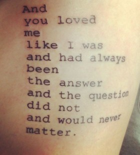 Simple word's love tattoo
