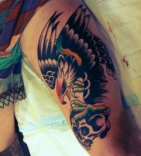 Skull best eagle tattoo