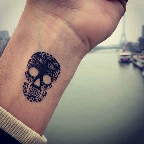Skull black inspiring tattoo