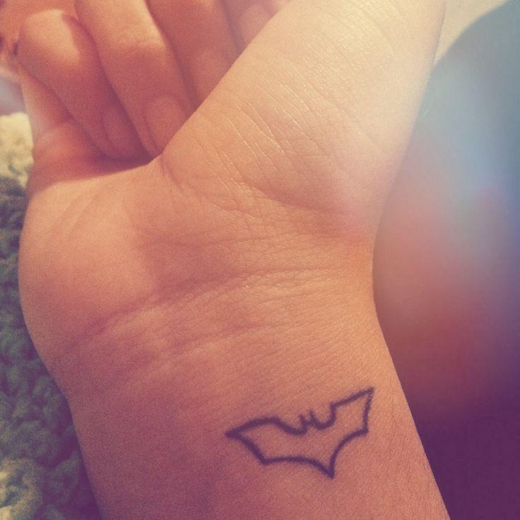 Small adorable batman tattoo