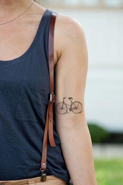 Small bike temporary tattoo