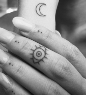 Small finger's eye tattoo