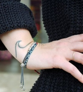 Small hand wave tattoo