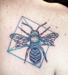 Small insect tattoo by Lisa Orth