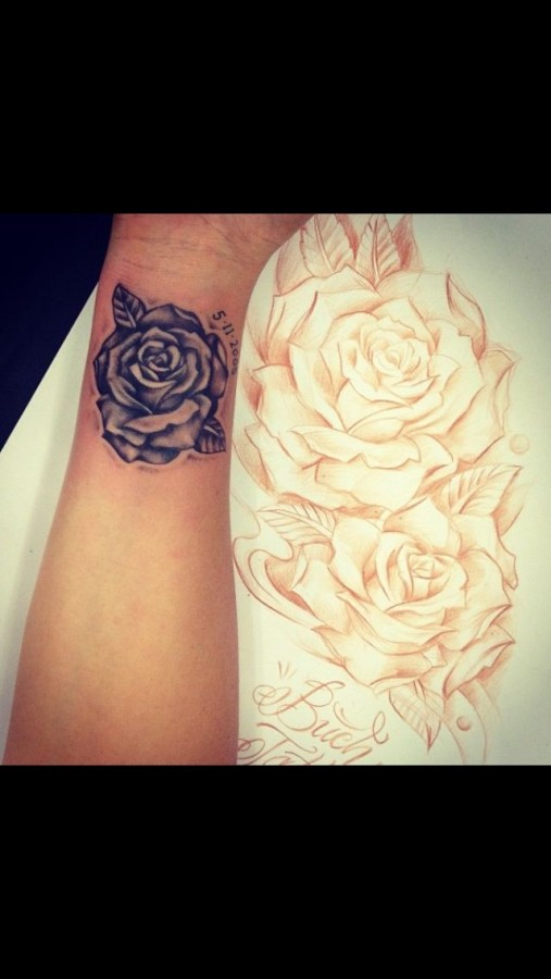 Small Number S And Rose Tattoo Tattoomagz Tattoo Designs Ink
