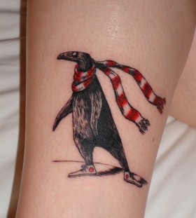 Strange looking tattoo by Edward Gorey