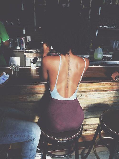 Stunning women's body back tattoo