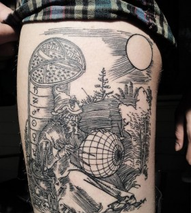 Sun and nature picture Victor J Webster tattoo