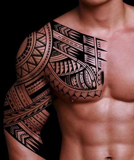 Sun ornaments black men's tattoos