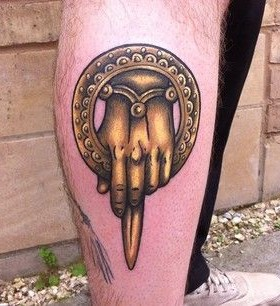 Symbol yellow of game of thrones tattoo