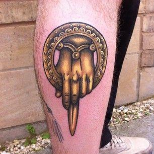Symbol yellow of game of thrones tattoo