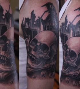 Three amazing skull tattoo