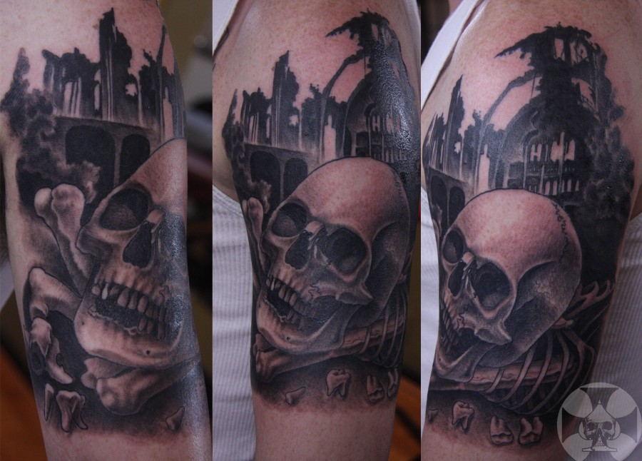 Three amazing skull tattoo