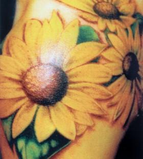 Three cool sunflower tattoo
