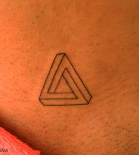Triangle black TATTOO BY- Marilia Pontes