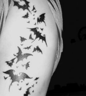 Tribal black arm's halloween tattoo
